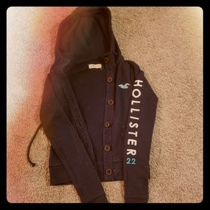 5$ Hollister XS button up hoodie